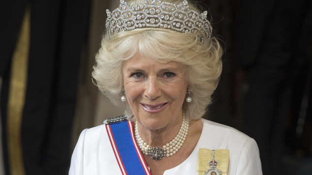 Camilla, Duchess of Cornwall arrives at The State Opening of Parliament on May 18, 2016 in London, England