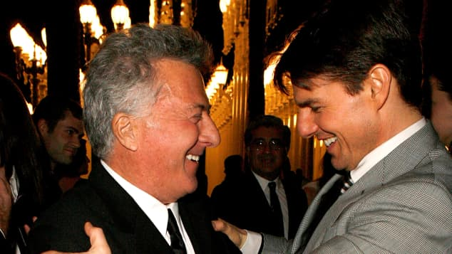 Dustin Hoffman and Tom Cruise: The stars of Rain Man in 2008.