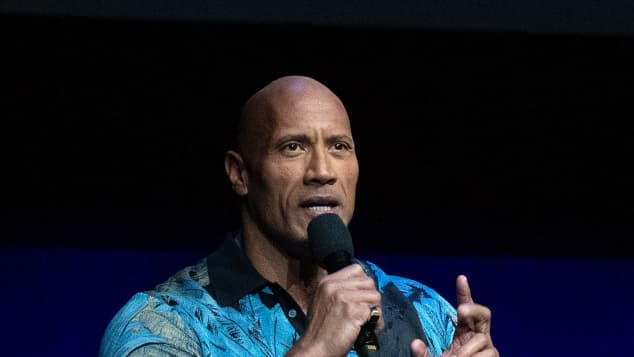 Dwayne Johnson at WarnerBros. special presentation during the 2019 CinemCon in Las Vegas, Nevada.
