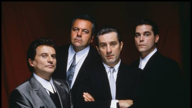 "Joe Pesci, Paul Sorvino, Robert de Niro and Ray Liotta in ""Goodfellas"""