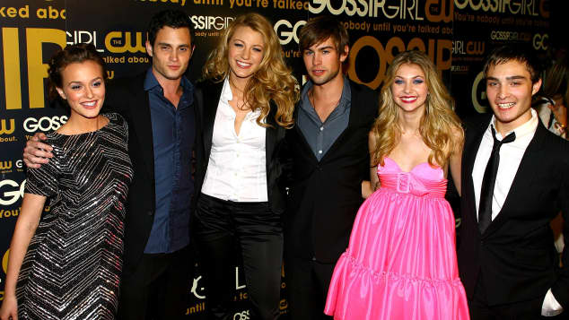 """""""Gossip Girl""""-Cast Leighton Meester, Penn Badgley, Blake Lively, Chace Crawford, Taylor Momsen und Ed Westwick"""