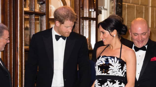 The Duke and Duchess of Sussex at the Royal Variety Performance 2018