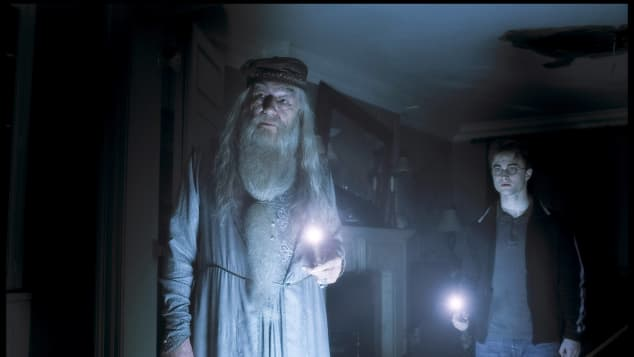 "Michael Gambon and Daniel Radcliffe in ""Harry Potter and the Half-Blood Prince"""