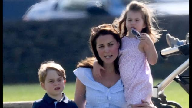 Prince George, Duchess Catherine and Princess Charlotte