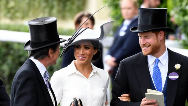 Duke and Duchess of Sussex at Ascot