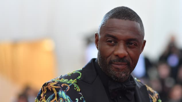 Idris Elba on the the red carpet of the 2019 MET Gala in New York City.