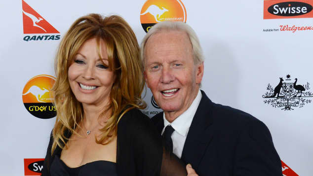 Linda Kozlowski with Paul Hogan in 2013