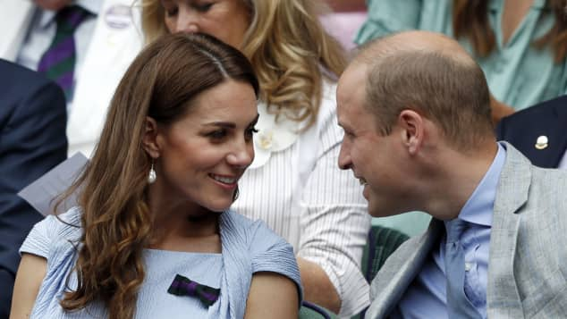 Duchess Catherine and Prince William at the 2019 Wimbledon Championships