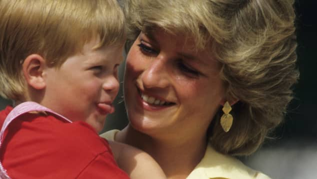 Lady Diana and sweet young Prince Harry
