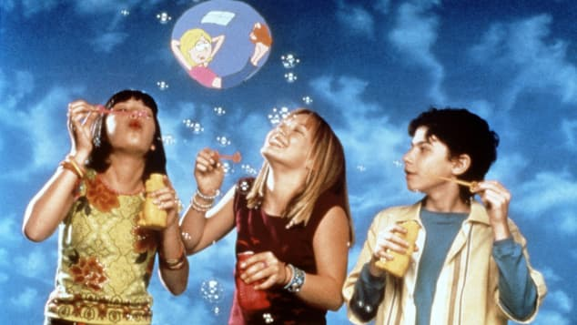 "Lalaine Vergara-Paras, Hilary Duff and Adam Lamberg star in the series, ""Lizzie McGuire"""