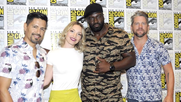 The new Magnum P.I. cast: Jay Hernandez, Perdita Weeks, Stephen Hill and Zachary Knighton ComicCon