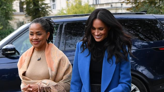 Duchess Meghan and her mother Doria Ragland
