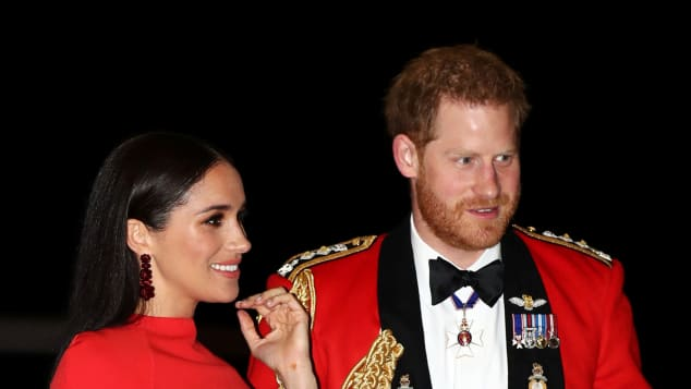Prince Harry, Duke of Sussex and Meghan, Duchess of Sussex arrive to attend The Mountbatten Festival of Music at the Royal Albert Hall in London on March 7, 2020