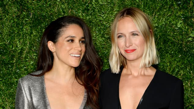 Meghan Markle and Misha Nonoo at the 12th Annual CFDA/Vogue Fashion Fund Awards in 2015