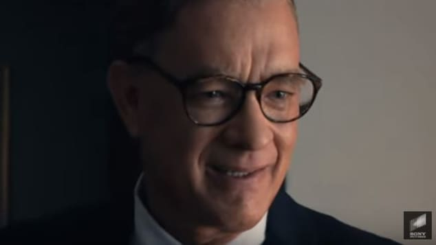 "Tom Hanks as ""Mister Rogers"""