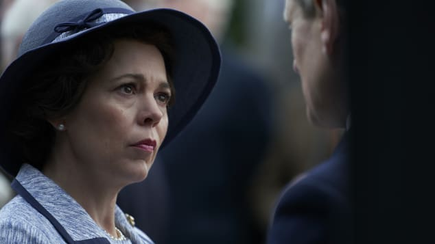 Olivia Colman stars as Queen Elizabeth II in season three and four of The Crown.