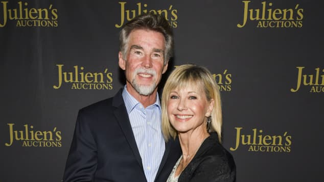 Olivia Newton-John and John Easterling were married in 2008.