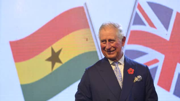 Prince Charles on a state visit to Ghana