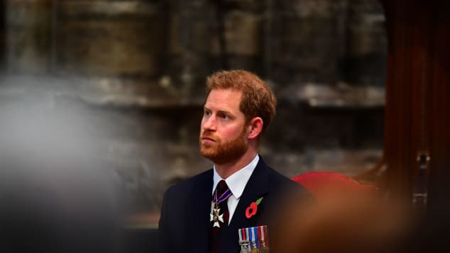 Prince Harry attends the ANZAC Day Service of Commemoration and Thanksgiving at Westminster Abbey