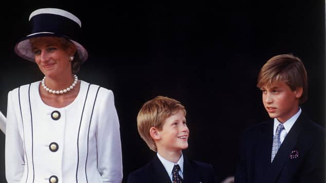 Princess Diana, Prince William and Prince Harry 1995