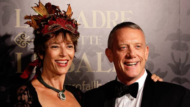 achel Ward and Simon Burke attend the YMCA Mother of All Balls in 2014