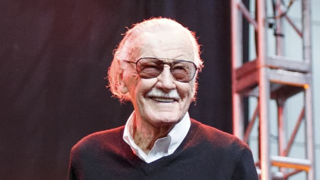 Stan Lee at a red carpet event in 2017