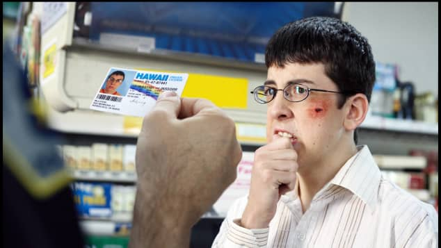 "Christopher Mintz-Plasse as ""Fogell"" (McLovin) in 'Superbad'"