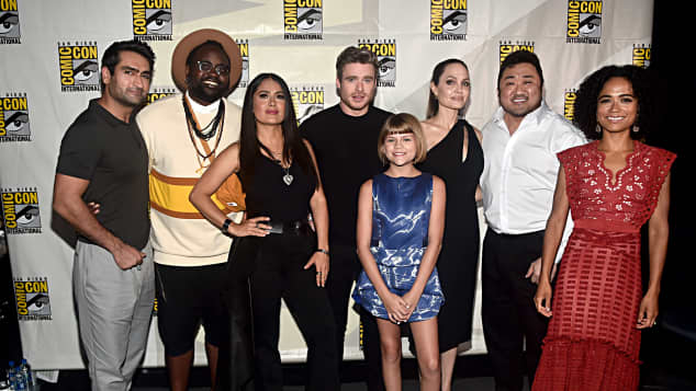 The Eternals Cast at Comic-Con 2019