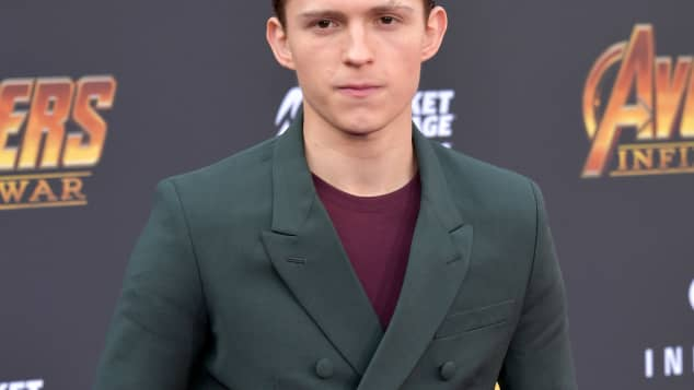 Tom Holland at the premiere of Avengers: Infinity War in 2018.