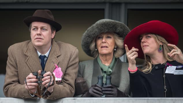 Duchess Camilla with her children Tom Parker Bowles and Laura Lopes.