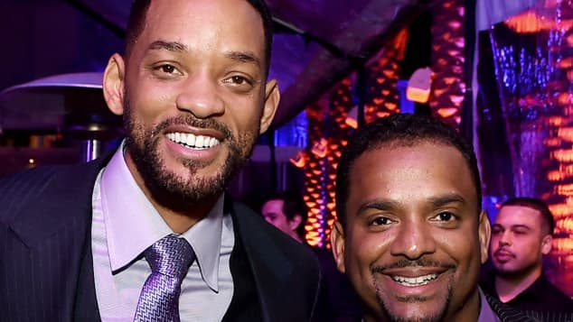 The former co-stars Will Smith and Alfonso Ribeiro at the premiere of Focus in 2015.