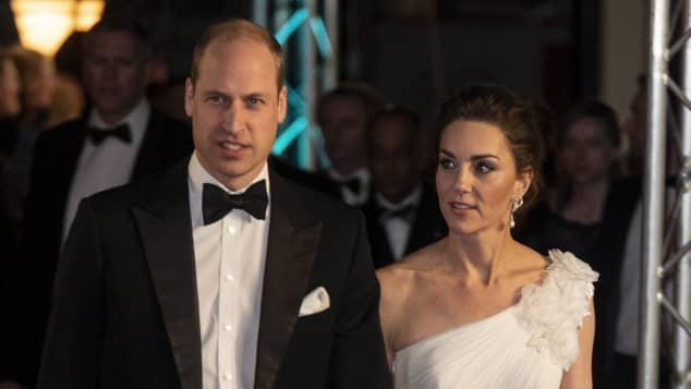Prince William and Duchess Catherine attend the 2019 BAFTA Awards at the Royal Albert Hall, London