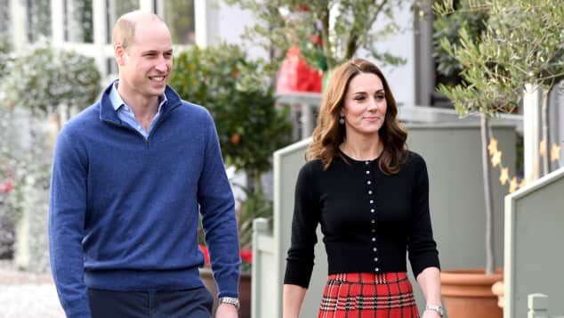 Prince William and Duchess Catherine host a Christmas party for military personnel at Kensington Palace