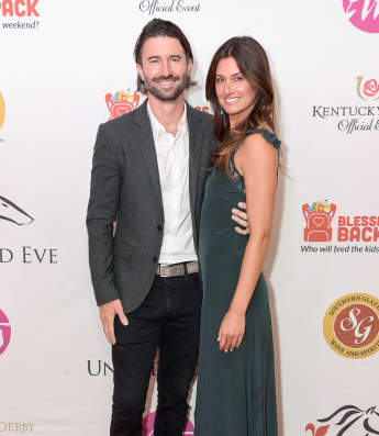 Brandon Jenner and Cayley Stoker attend the 145th Kentucky Derby Unbridled Eve Gala on May 03, 2019