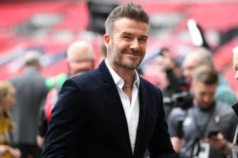 David Beckham at Wembley Stadium in London, 2019.