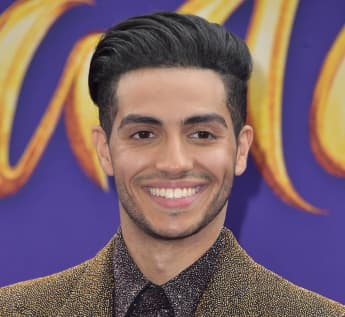 Mena Massoud at the May 2019 premiere of Aladdin in Los Angeles.