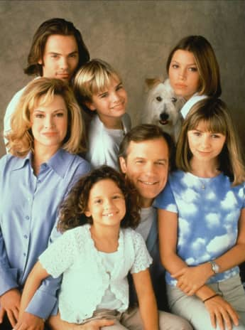 The '7th Heaven' Cast in 1996.