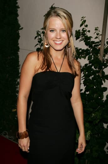 Allison Munn arrives at the WB Network stars party at the Cabana Club on July 22, 2005 in Hollywood, California