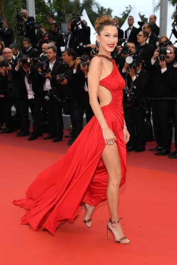 "Bella Hadid attends the screening of ""Pain And Glory"" during the 72nd annual Cannes Film Festival."