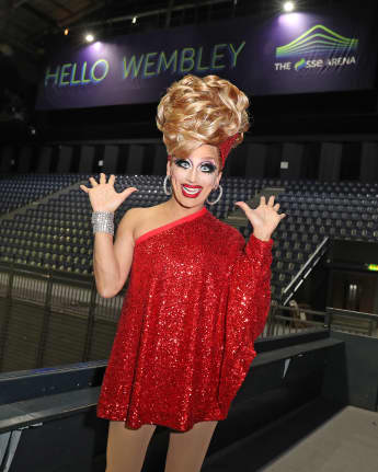 Bianca Del Rio appears at SSE Arena Wembley ahead of her September 2019 UK arena tour on December 05, 2018 in London, England