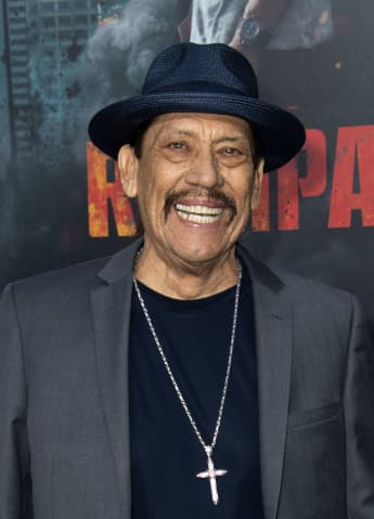 "Danny Trejo attends the World Premiere of ""Rampage"" on April 4, 2018, in Los Angeles, California"