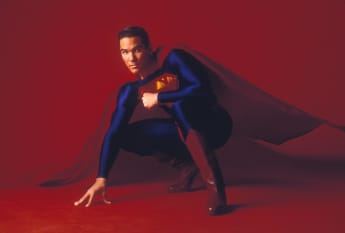 "Dean Cain playing the role of ""Superman"""