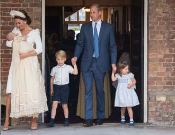 Princess Charlotte, Prince George, Prince William, Prince Louis and the Duchess of Cambridge