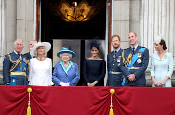 The Royal Family on the Balcony at Buckingham Palace