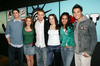 "The cast of ""One Tree Hill"" backstage during MTV's Total Request Live in NYC."