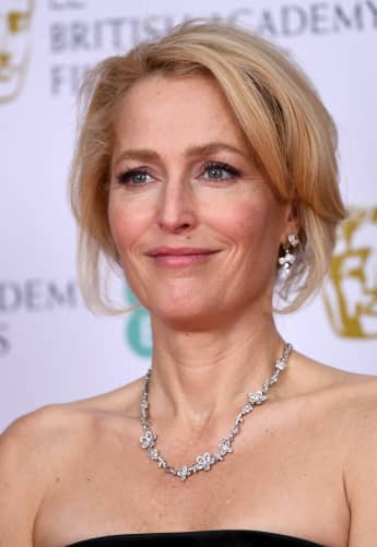 Gillian Anderson in the Winners Room during the EE British Academy Film Awards 2020 at Royal Albert Hall on February 02, 2020 in London, England.
