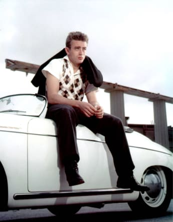 James Dean on set