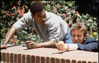 Judge Rheinhold and Eddie Murphy in 'Beverly Hills Cop'