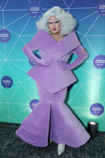 Kim Chi poses at The Points Guy Awards on December 4, 2018 in New York City