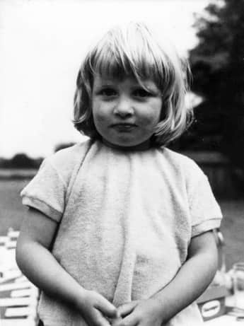 Princess Diana at the age of 2